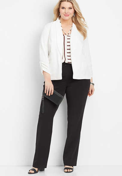 plus size high rise bootcut pant