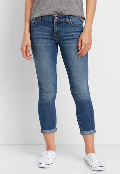 DenimFlex™ medium blast cropped jean