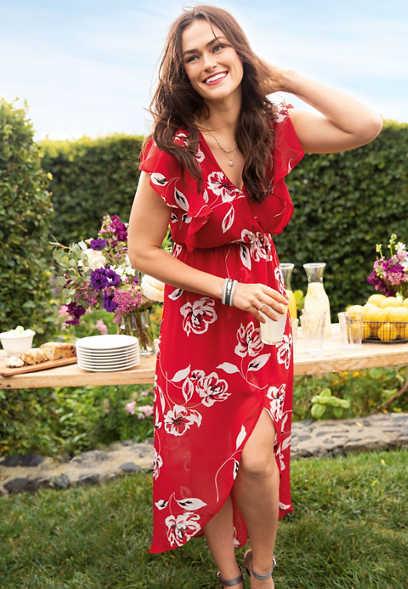 floral print v-neck maxi dress 525f03dc2
