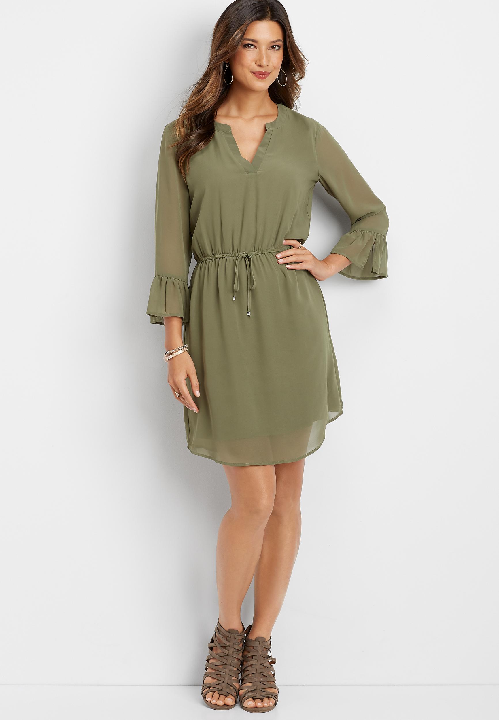 V Neckline Dress