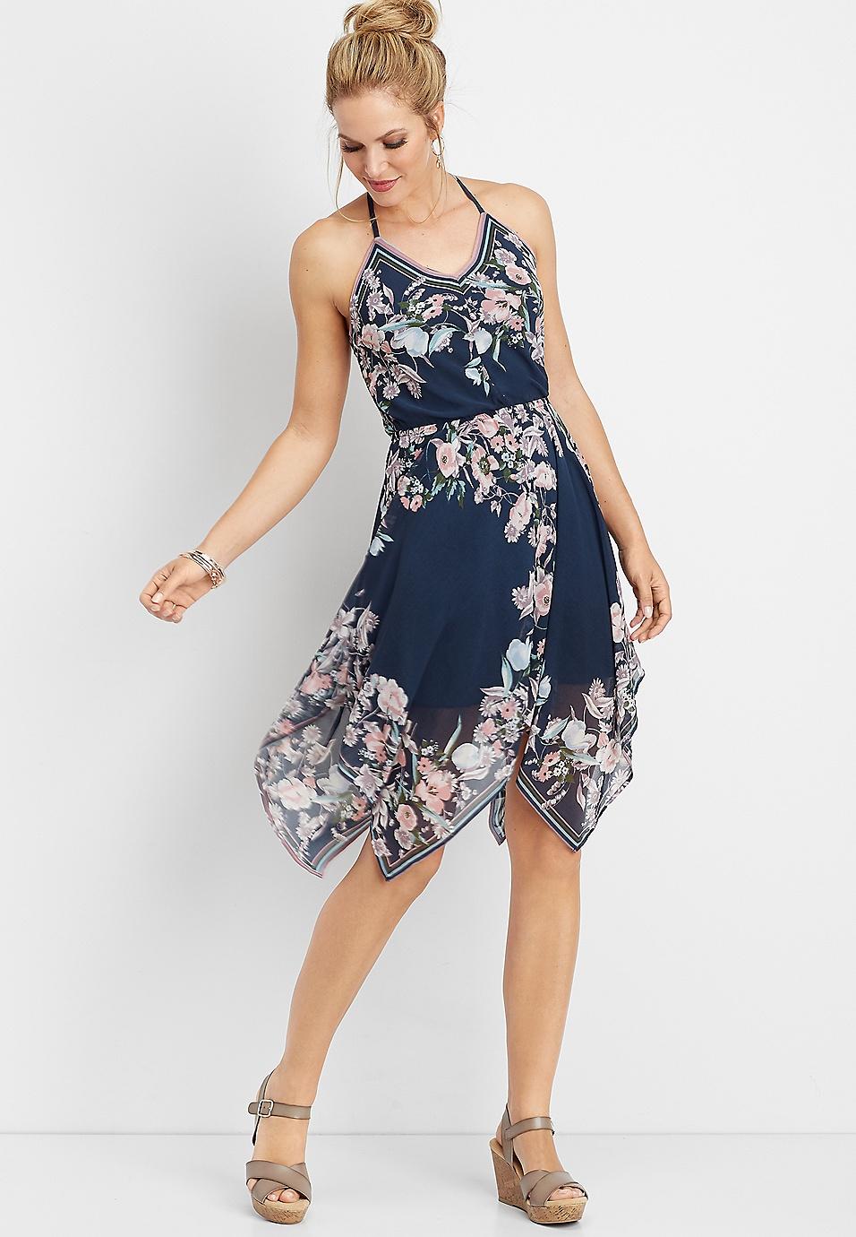 2091bbc3ee5 floral hanky hem dress