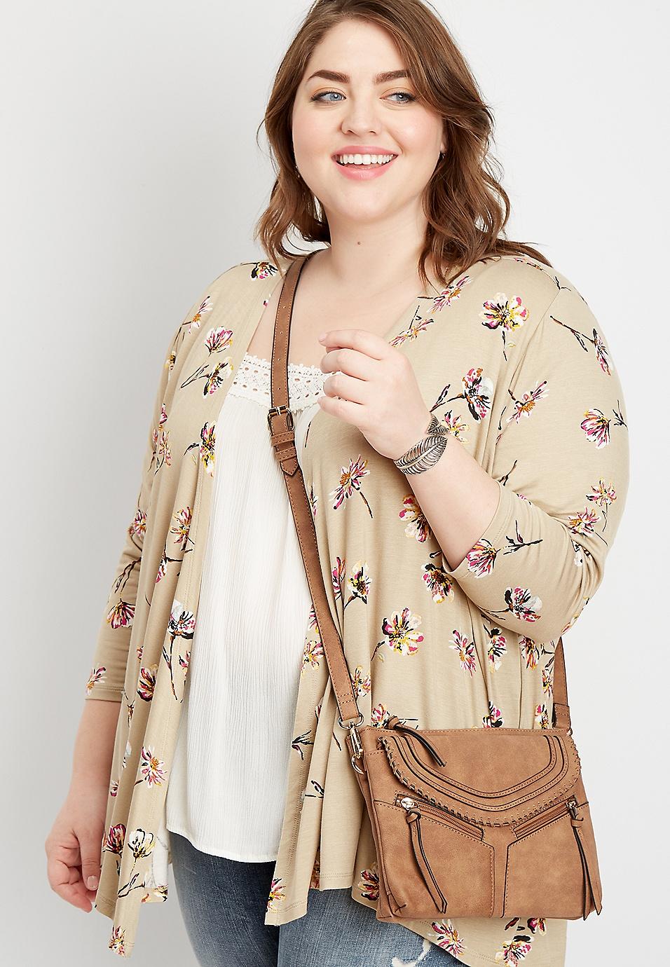 f835578fb90 plus size floral open front cardigan