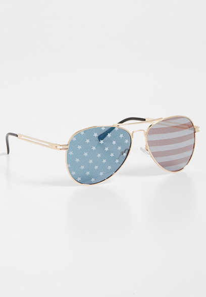 stars & stripes aviator sunglasses