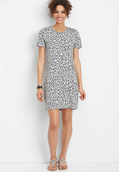 ff67067e92068 cheetah print t-shirt dress