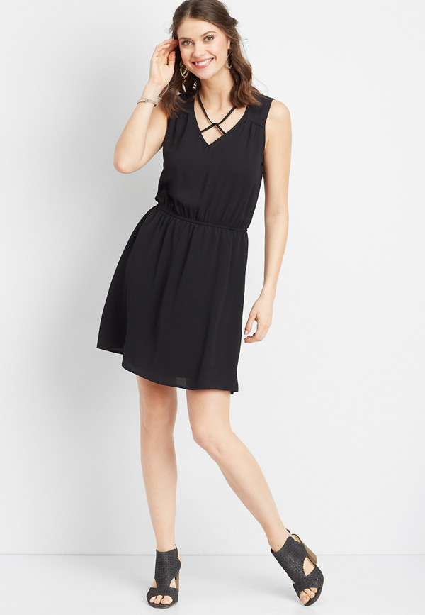 Lattice Neck And Back Dress Maurices