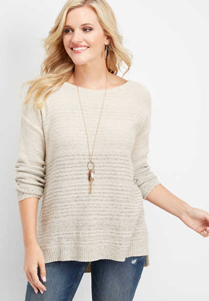 long sleeve luxe lounge pullover