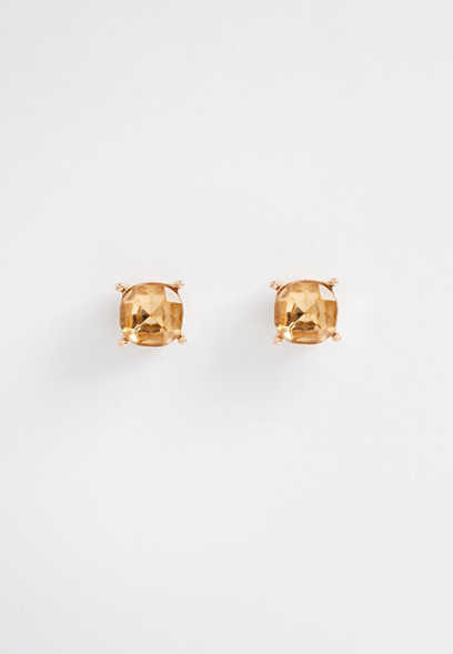 medium yellow stud earring