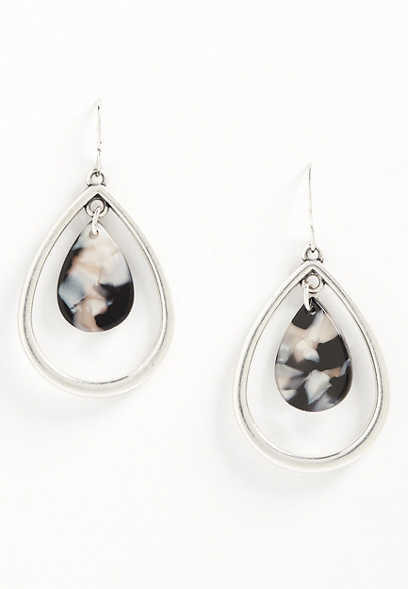 framed teardrop earring