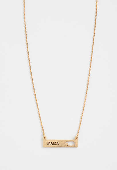 mama bear dainty necklace