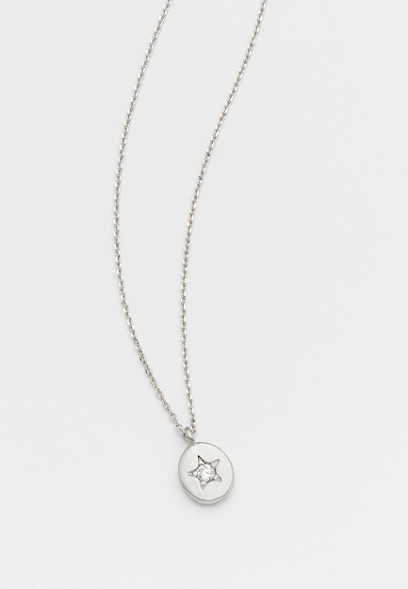 dainty rhinestone star necklace