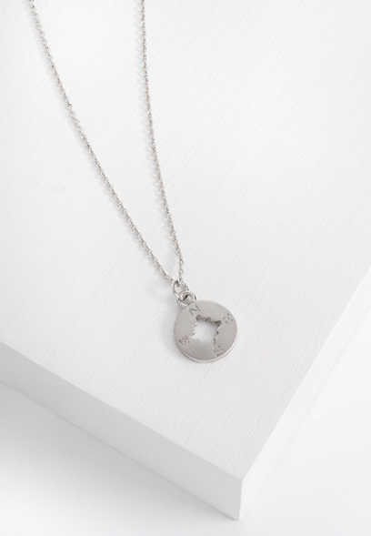dainty compass necklace