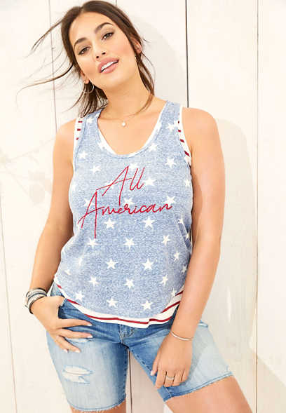51e1d4cb264 All American star graphic tank