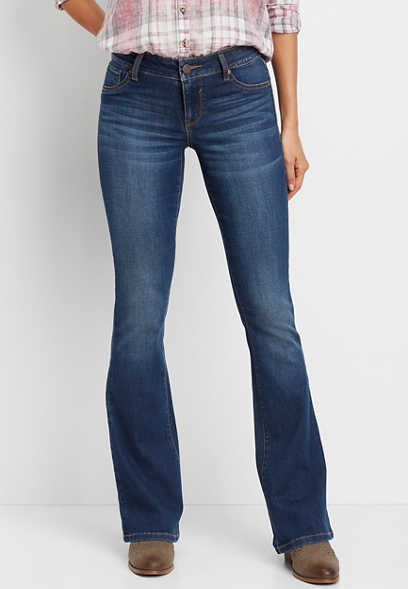 DenimFlex™ medium wash flare jean