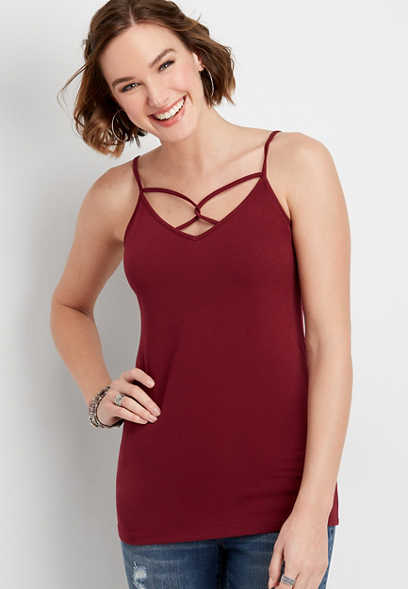 twist strap v-neck cami