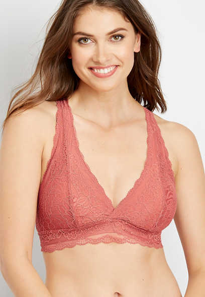 lace butterfly back bralette