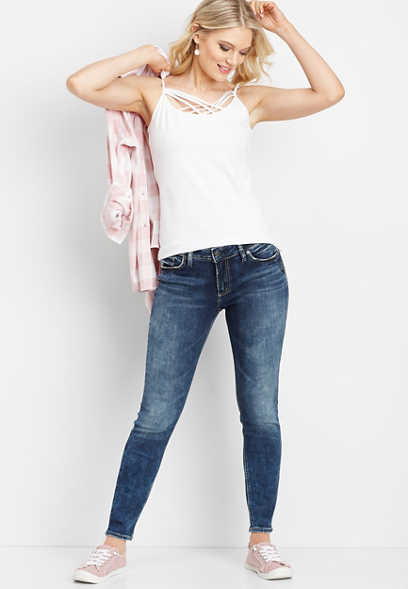 Silver Jeans Co.® Elyse dark wash skinny jean