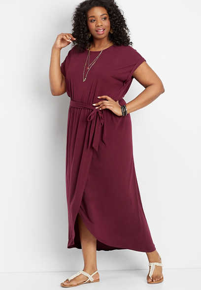 plus size tulip hem maxi dress