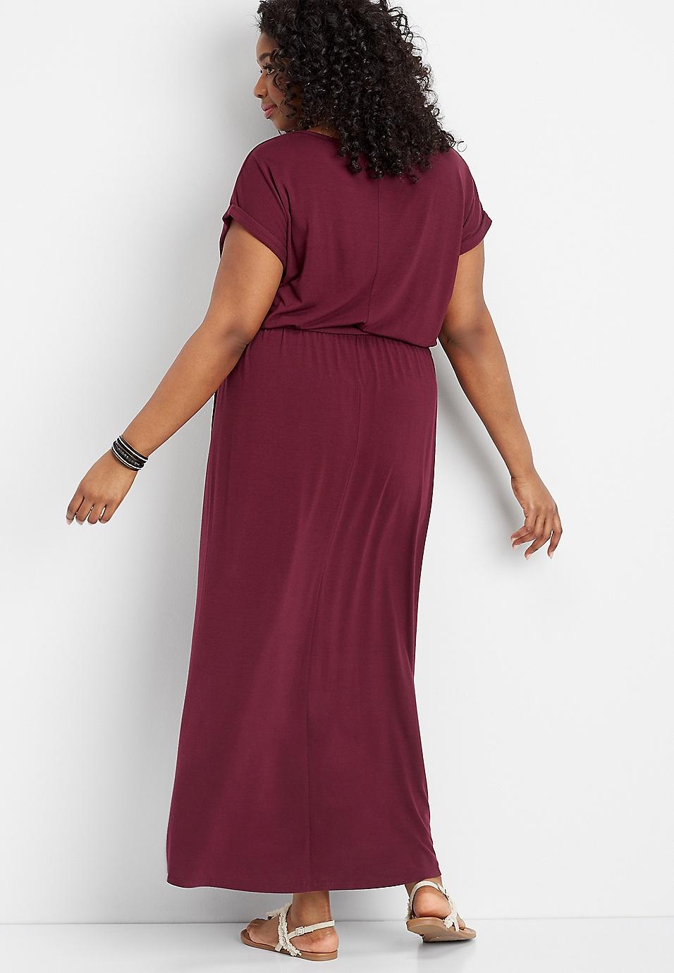 0b1ac01e353 plus size tulip hem maxi dress