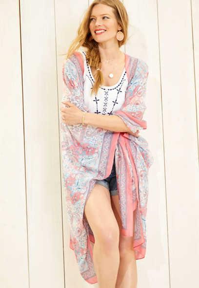 51d3e33a6d floral border print kimono