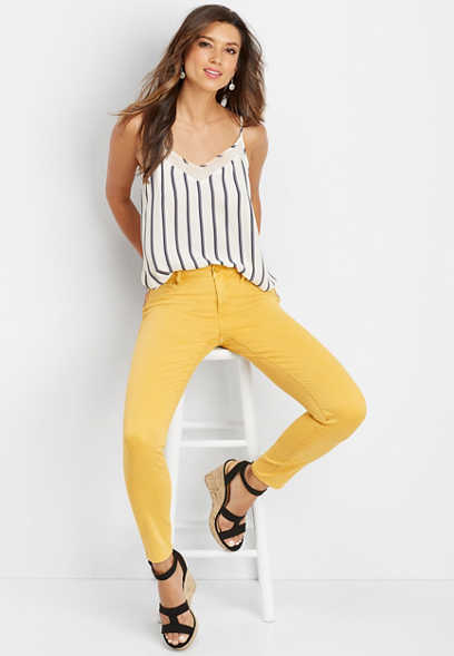 DenimFlex™ yellow color jegging