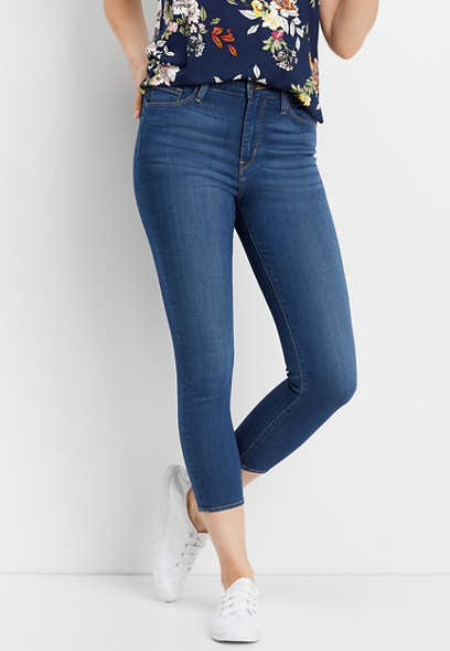 Flying Monkey™ high rise super soft skinny cropped jean