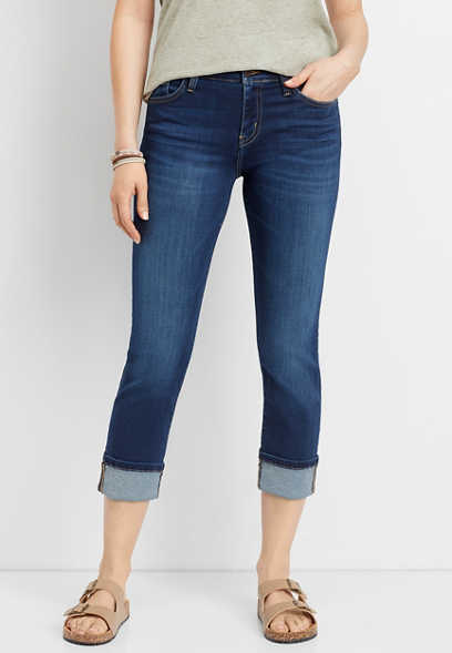 Flying Monkey™ super soft cuffed slim cropped jean