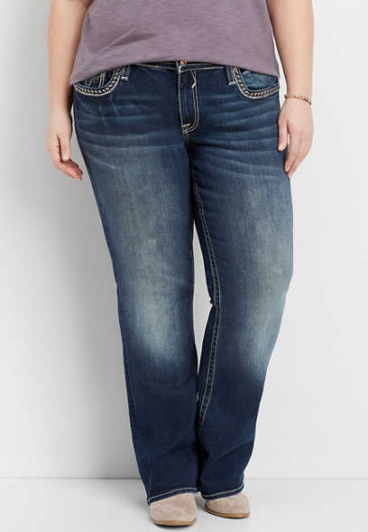 plus size Vigoss® dark wash bootcut jean