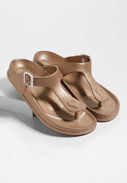 44f75aee34f5 Aubrey plastic thong footbed sandal