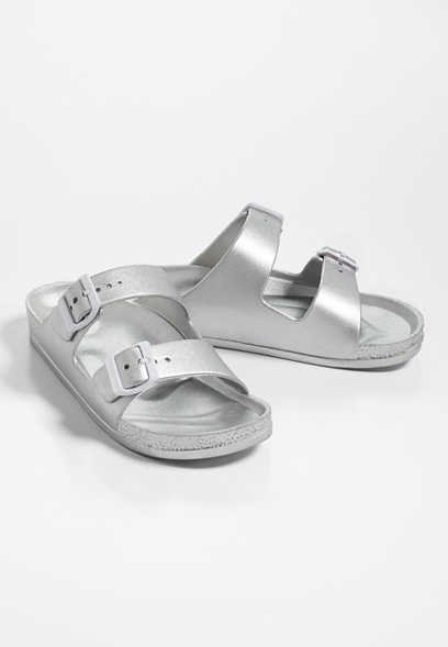 Abigail two strap plastic footbed sandal