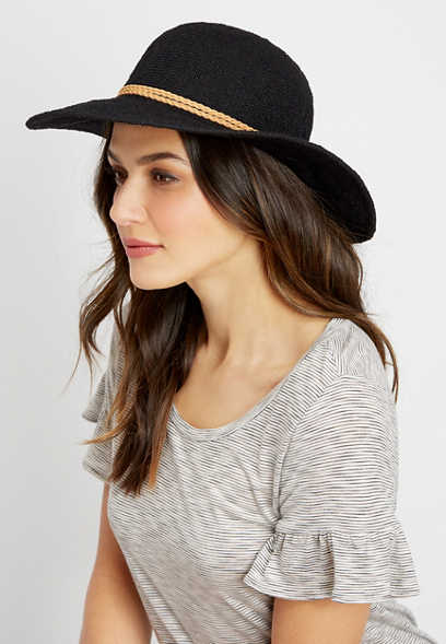 textured floppy hat