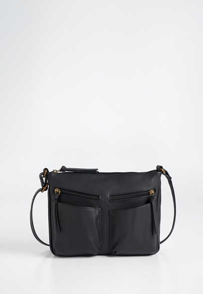 two pocket crossbody bag