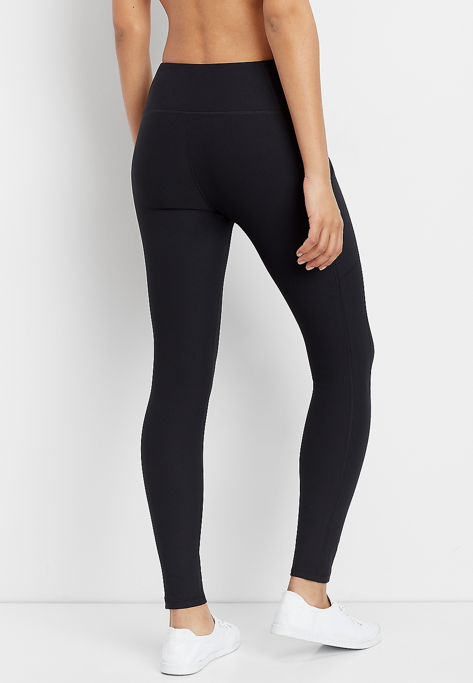 a42673085d4dd solid side pocket legging | maurices