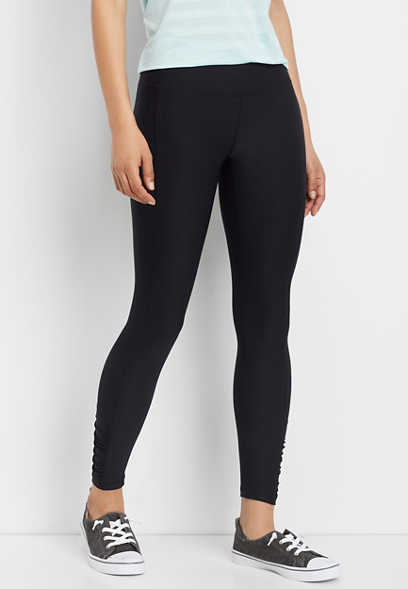 ruched ankle legging