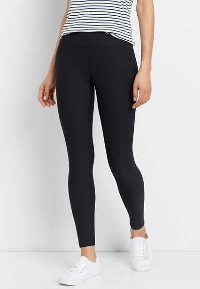 crossover front waistband legging
