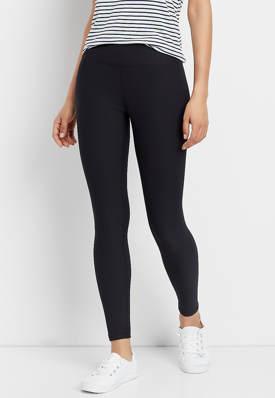 66a1074950 crossover front waistband legging | maurices