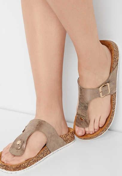 7ee21932add8c4 Annika shimmer thong molded footbed sandal
