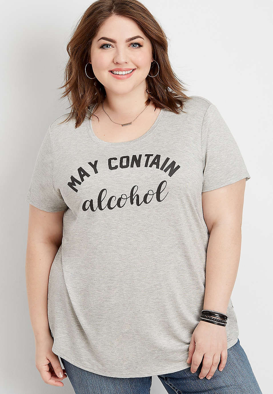 ff611f6a0 plus size may contain alcohol graphic tee | maurices