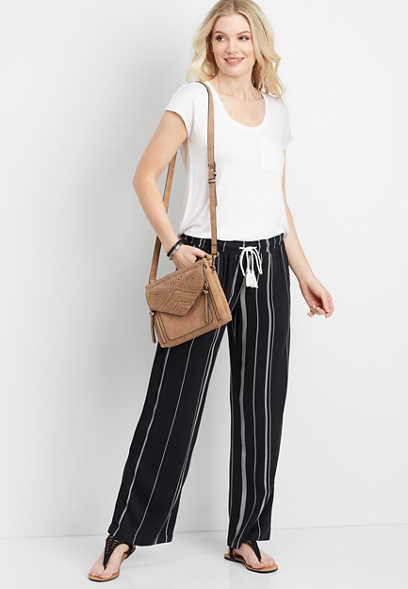 262108cbec4 stripe wide leg pant