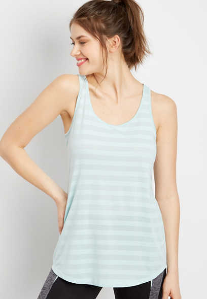 teal stripe active tank