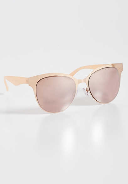Metal Clubmaster Sunglasses