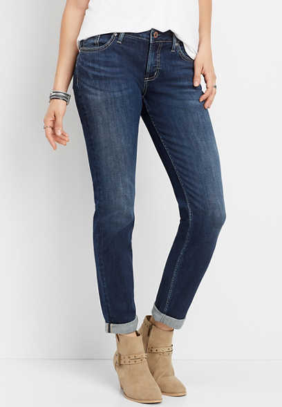 Silver Jeans Co.® Sam dark rolled boyfriend jean