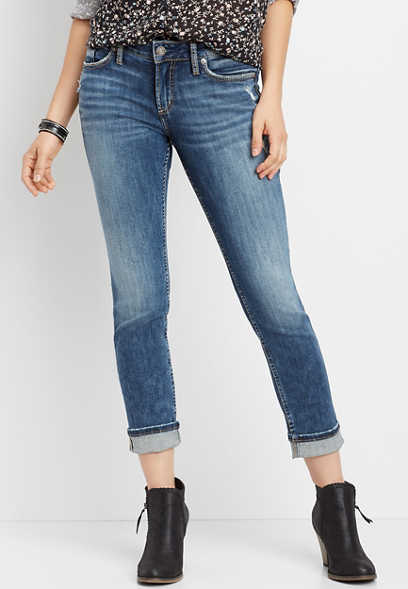 Silver Jeans Co.® Suki medium wash straight leg jean