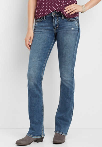 58424342 Silver Jeans Co.® Suki faux flap pocket slim boot jean