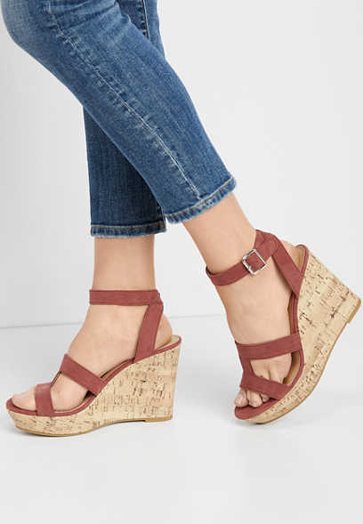 Elaine cork wedge