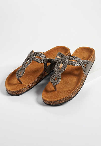 Audrey twisted thong molded footbed sandal