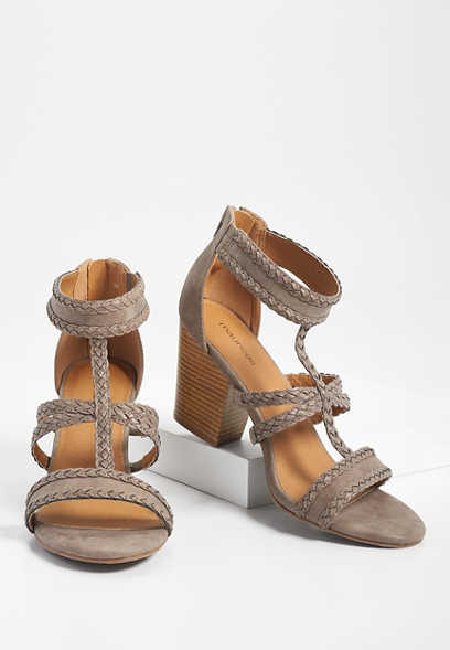 Ella braided trim block heel