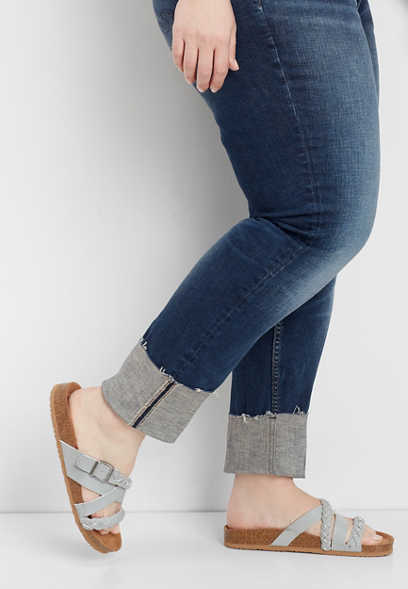 plus size Silver Jeans Co.® Elyse cuffed straight leg jean