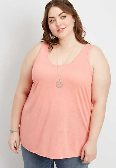 plus size double scoop neck tank
