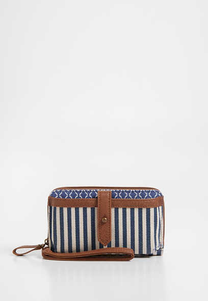stripe phone case wristlet