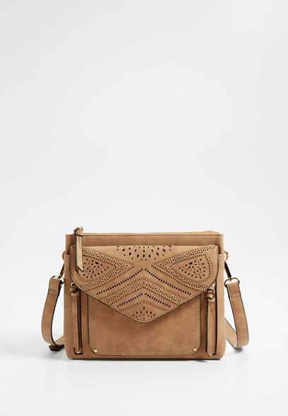 lasercut crossbody bag
